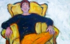 the happy one  öl/lwd  100x100cm  the happy one  huile/toile